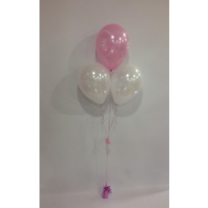 Pink First Holy Communion 3 Latex Pyramid Bouquet
