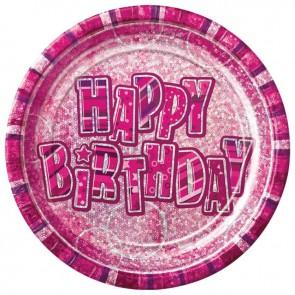 Pink Glitz Paper Plates