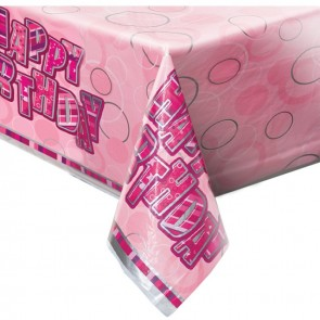 Pink Glitz Plastic Tablecover