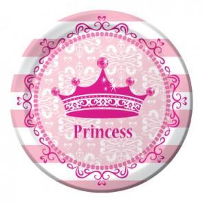 Pink Princess Royalty Paper Plates