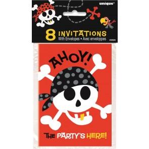 Pirate Fun Party Invitations