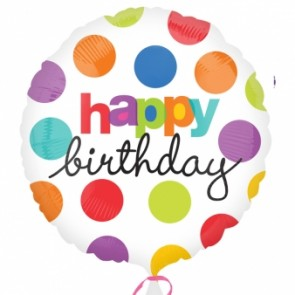 Polka Dot 'Happy Birthday' Foil