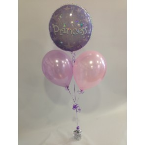 Pale Pink and Lilac Princess Balloon Bunch