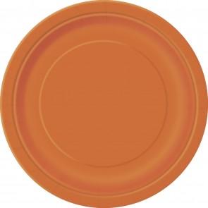 Orange Paper Plates