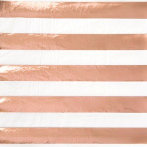 Rose Gold Stripe Napkins