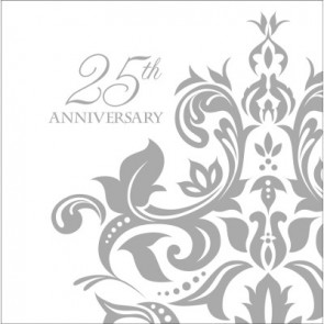 25th Anniversary Napkins