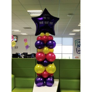 Multi Coloured Star Column