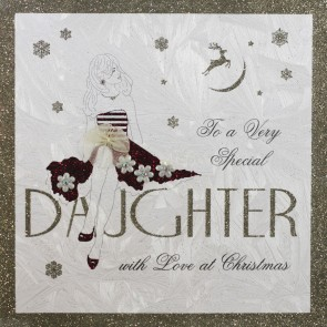 Five  Dollar Shake 'To a Very Special Daughter with Love at Christmas' Card.