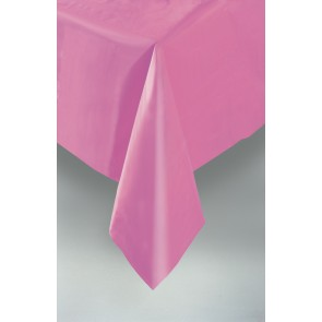 Hot Pink Plastic Tablecover