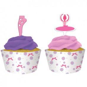 Tutu Much Fun Cupcake Wrap with Topper