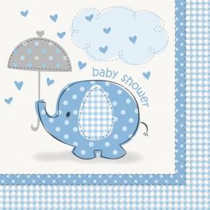Umbrellaphants Blue Napkins