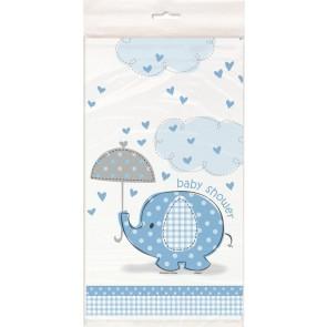 Umbrellaphants Blue Plastic Tablecover