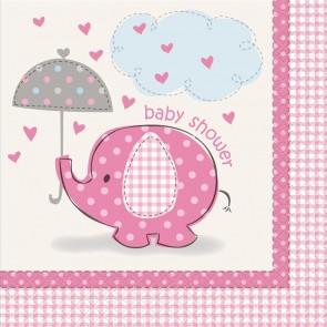 Umbrellaphants Pink Napkins