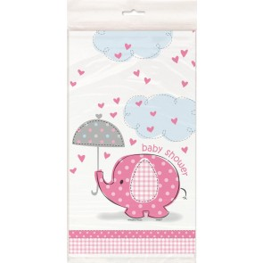 Umbrellaphants Pink Plastic Tablecover
