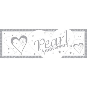 Pearl Wedding Anniversary Giant Banner