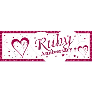 Ruby Wedding Anniversary Giant Banner