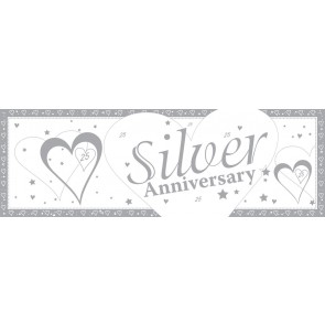 Silver Wedding Anniversary Giant Banner
