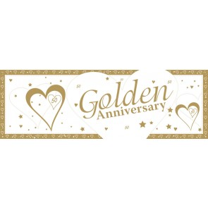 Golden Wedding Anniversary Giant Banner