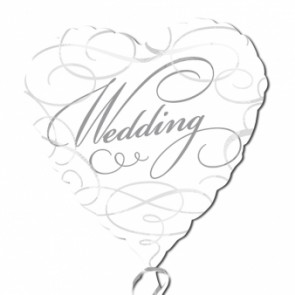 Wedding Swirls Foil Balloon