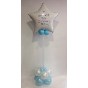 White and Blue Communion Star Statement Piece